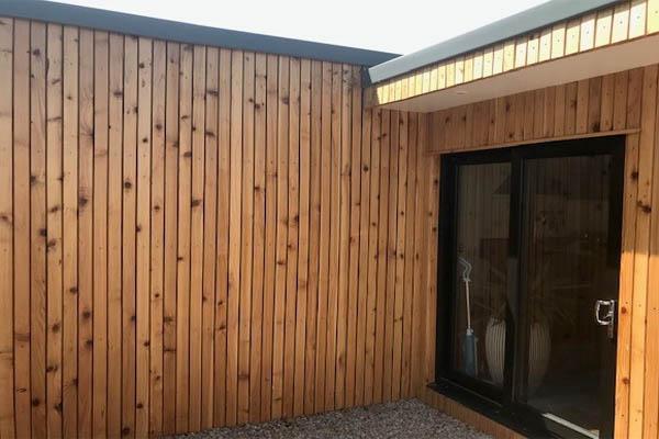 British cedar cladding