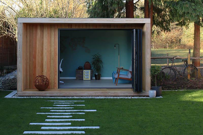 SilverLeaf modern garden room