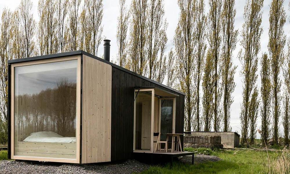 Ark Shelter tiny house by architect Michiel De Backer