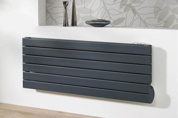 Designer electric radiator, anthracite