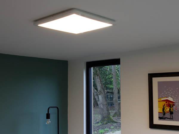 Flat-panel LED ceiling light