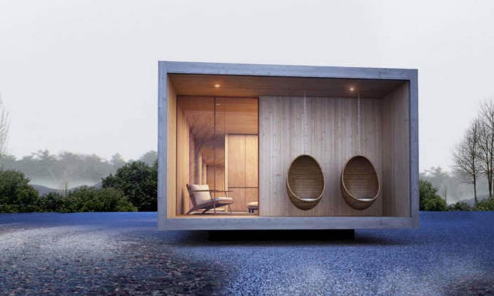 Premium Box shipping container garden room design