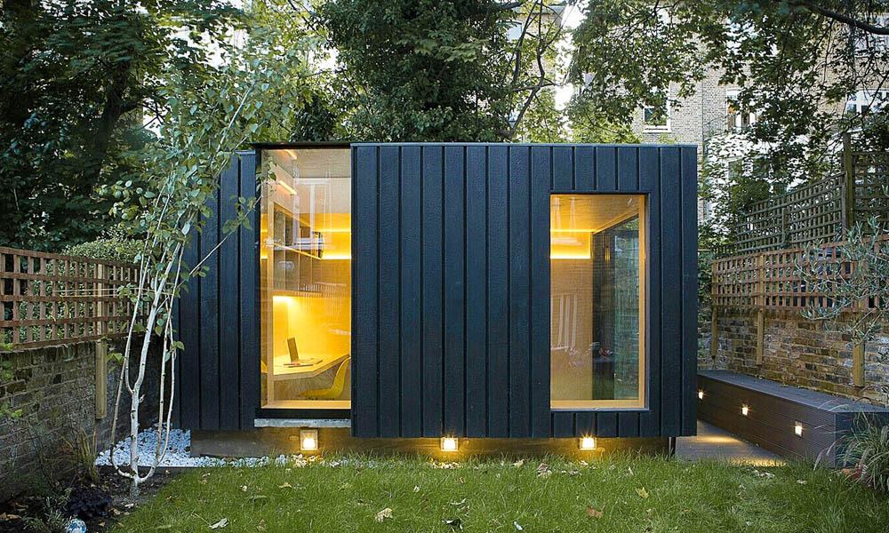 Shou Sugi Ban garden room by Neil Dusheiko architects
