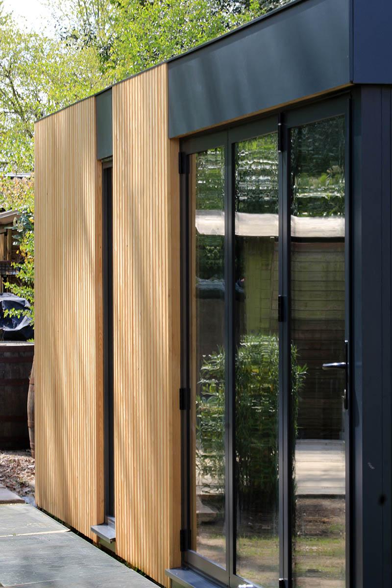 Genus garden room bifold doors