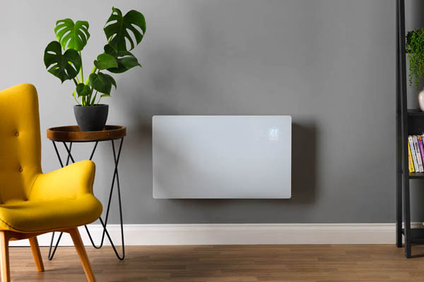 Wall-mounted electric convector panel heater Wi-Fi