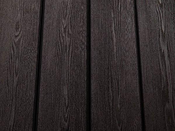 Charcoal black larch cladding