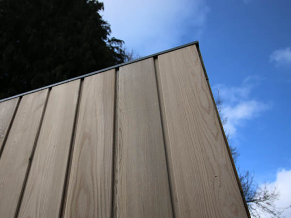 Pre-weathered Siberian larch cladding