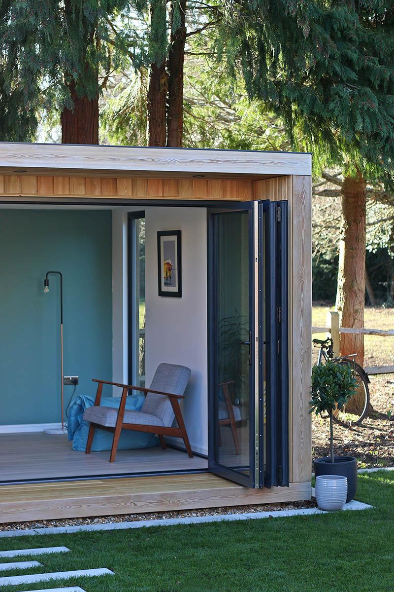 Garden room with bifold doors