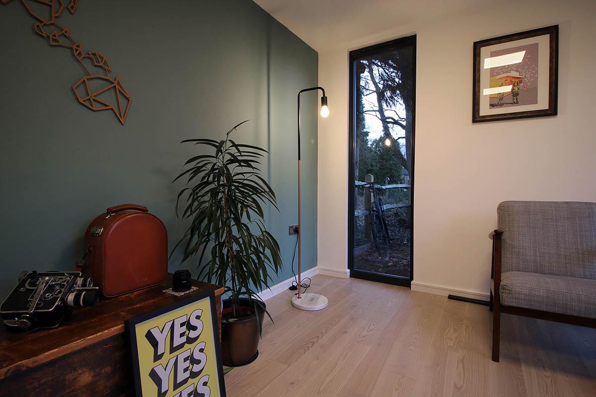Garden room interior design